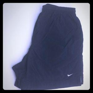 WOMENS SHORT: Black,athletic running shorts.